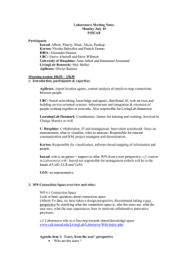 Laboranova Meeting Notes Monday July 10 INSEAD Participants