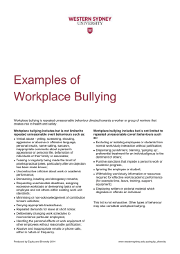 Examples of Workplace Bullying