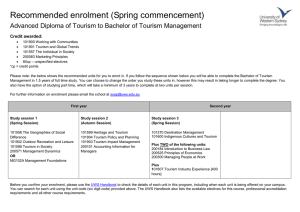 Recommended enrolment (Spring commencement)  Credit awarded: