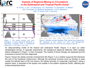 Impacts of Regional Mixing on Circulations