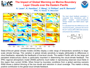 The Impact of Global Warming on Marine Boundary A. Lauer