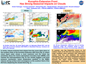 Kuroshio Extension Front Has Strong Seasonal Impacts on Clouds