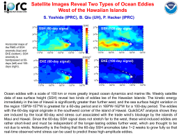 Satellite Images Reveal Two Types of Ocean Eddies SSH (60-day signal