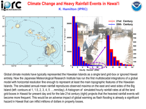 Climate Change and Heavy Rainfall Events in Hawai'i