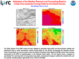 Adaptation of the Weather Research and Forecasting Model to