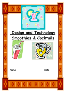 Design and Technology Smoothies & Cocktails