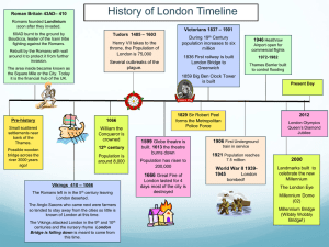 History of London Timeline – 410 Roman Britain 43AD – 1901