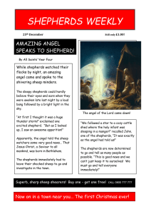 SHEPHERDS WEEKLY AMAZING ANGEL SPEAKS TO SHEPHERD!