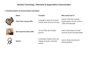 Assistive Technology - Alternative & Augmentative Communication  Name