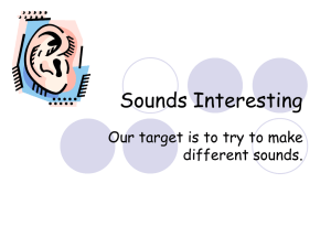 Sounds Interesting Our target is to try to make different sounds.