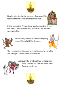 Finally, after the battle was over, Rama and Sita