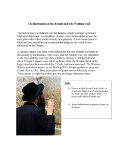 The Destruction of the Temple and The Western Wall