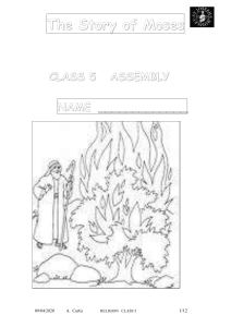 The Story of Moses CLASS 5   ASSEMBLY NAME