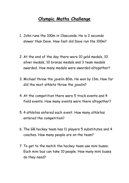 Olympic Maths Challenge