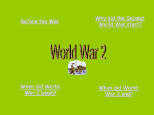 Why did the Second Before the War World War start? When did World