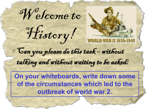 Welcome to History! • Can you please do this task – without