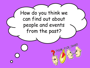 How do you think we can find out about people and events