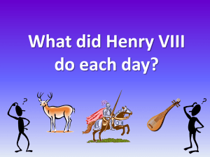 What did Henry VIII do each day?