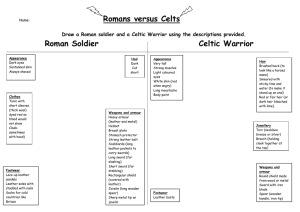 Romans versus Celts