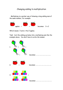Changing adding to multiplication