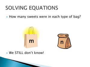 m n How many sweets were in each type of bag?