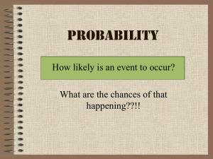 Probability How likely is an event to occur? happening??!!