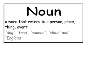 a word that refers to a person, place, thing, event: