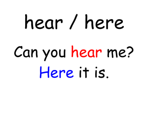 hear / here Can you me? it is.