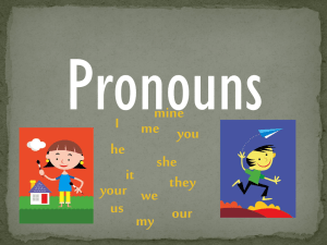 Pronouns mine I me