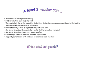 Make sense of what you are reading 