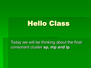 Hello Class Today we will be thinking about the final