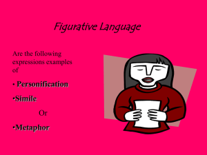 Figurative Language Personification Simile Or