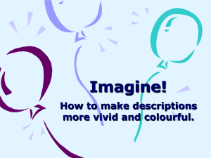 Imagine! How to make descriptions more vivid and colourful.