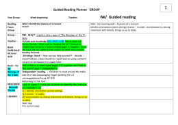 1 IW/  Guided reading Guided Reading Planner   GROUP