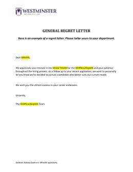 interview decline letter