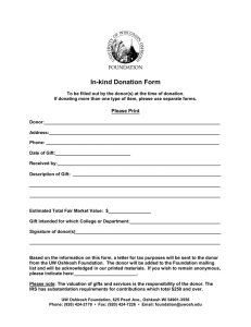 In-kind Donation Form