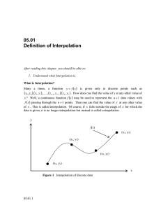 05.01 Definition of Interpolation   