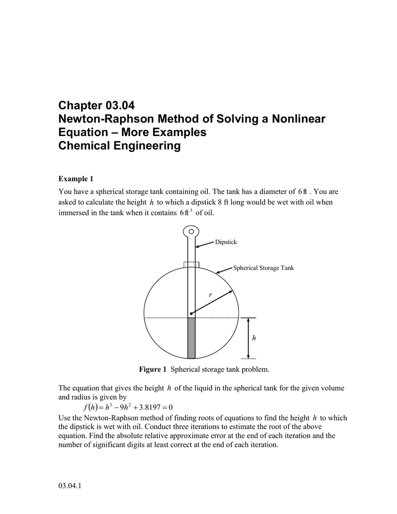 chapter 03.04 newton-raphson method of solving a nonlinear – more