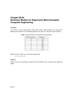 Chapter 06.04 Nonlinear Models for Regression-More Examples Computer Engineering