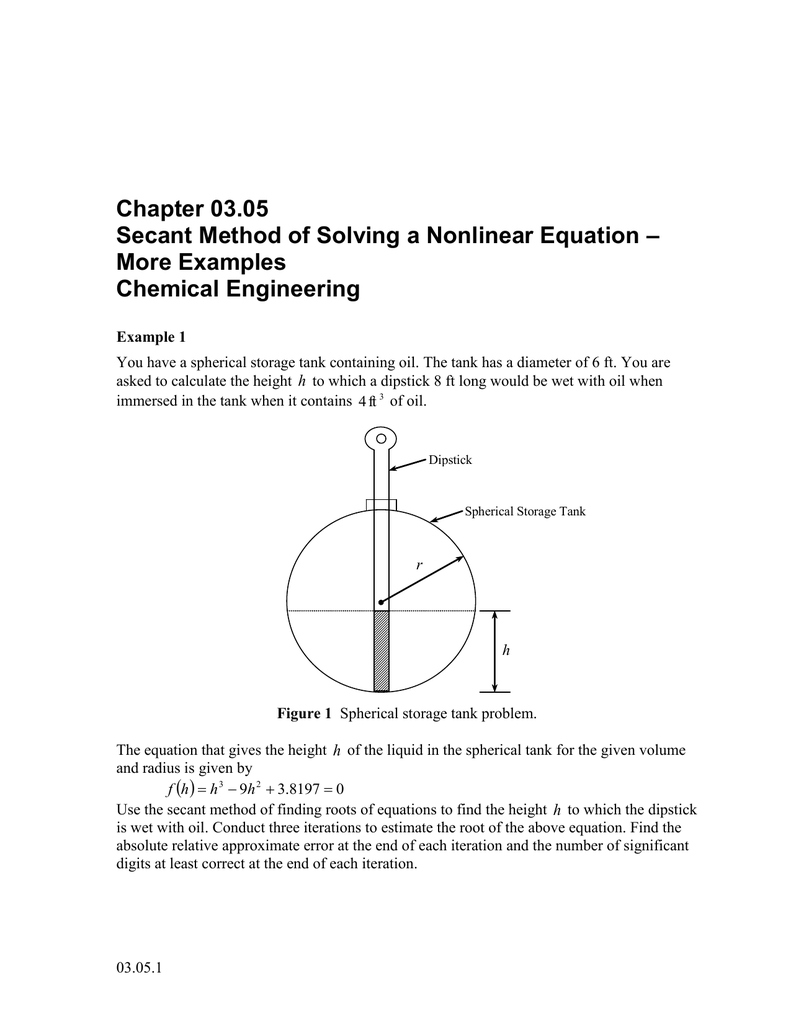 chapter 03.05 – secant method of solving a nonlinear equation more