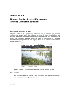 Chapter 08.00C Physical Problem for Civil Engineering Ordinary Differential Equations