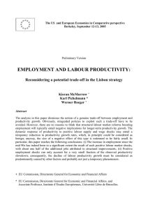 EMPLOYMENT AND LABOUR PRODUCTIVITY:  Kieran McMorrow