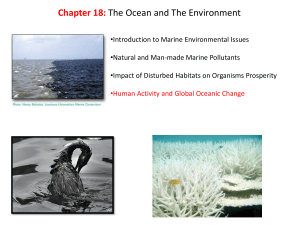 Chapter 18: The Ocean and The Environment
