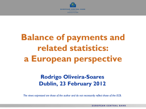 Balance of payments and related statistics: a European perspective Rodrigo Oliveira-Soares