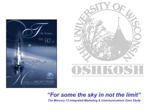 """For some the sky in not the limit"" 1"