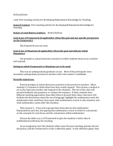 DuClouxK2.doc  Link: Peer-teaching activity for developing Mathematical Knowledge for Teaching Teaching