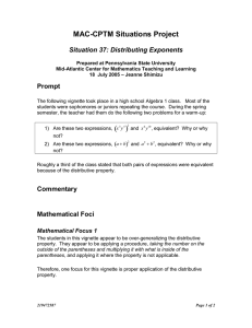 MAC-CPTM Situations Project  Situation 37: Distributing Exponents