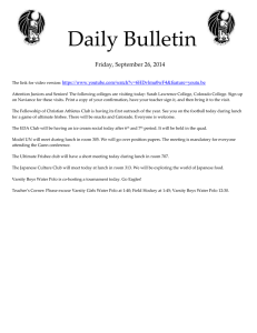 Daily Bulletin  Friday, September 26, 2014