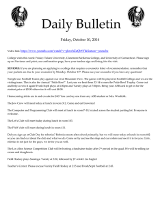 Daily Bulletin  Friday, October 10, 2014