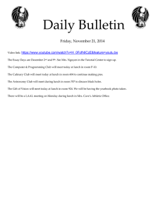 Daily Bulletin  Friday, November 21, 2014